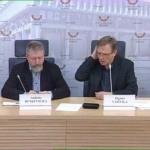 A. Butkevičiaus ir Z. Vaišvilos spaudos konferencija