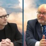 """""""Laimės ekonomika"""" – ar įmanoma ji Lietuvoje. Audrius Nakas ir Gediminas Navaitis."""