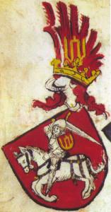 Tikrasis Lietuvos herbas - Vytis su Gedimino stulpais
