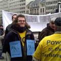 Briuselyje įvyko protesto prieš patentus akcija