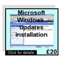 Melagingas pranešimas apie Windows atnaujinimą