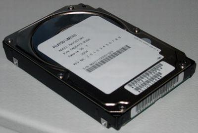 5 colių HDD iš FUJITSU kišeniniams kompiuteriams: 120 Gb