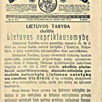 Lietuvos valstybės atkūrimo šventės programa dvelks istorija